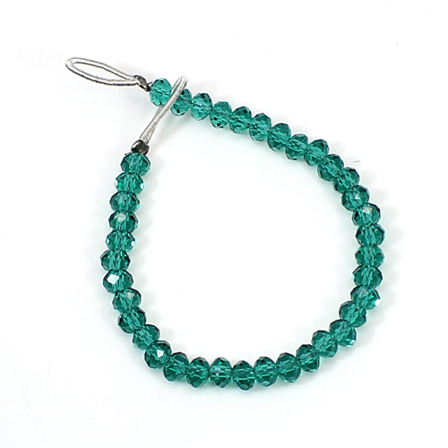 Apatite Glass 4.10 Inch Round Faceted 4mm 13.95 Cts Beads Strand