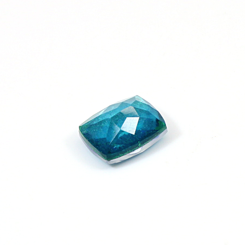 Apatite Hydro, Crystal, Foil Triplet 4.25 Cts Rectangle Checker Cut 11x9mm Loose Gemstone