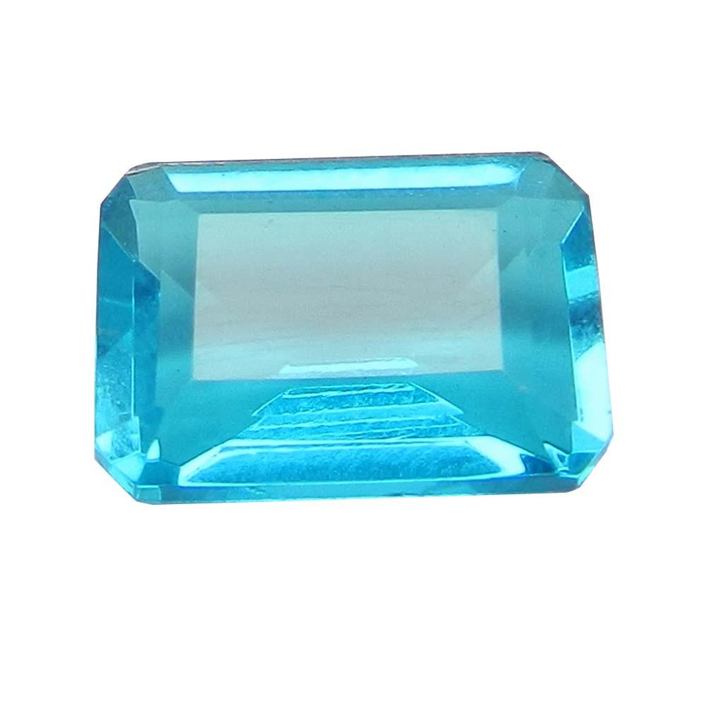 Aqua Bio Color Doublet 10x14mm Rectangle Cut 6.4 Cts