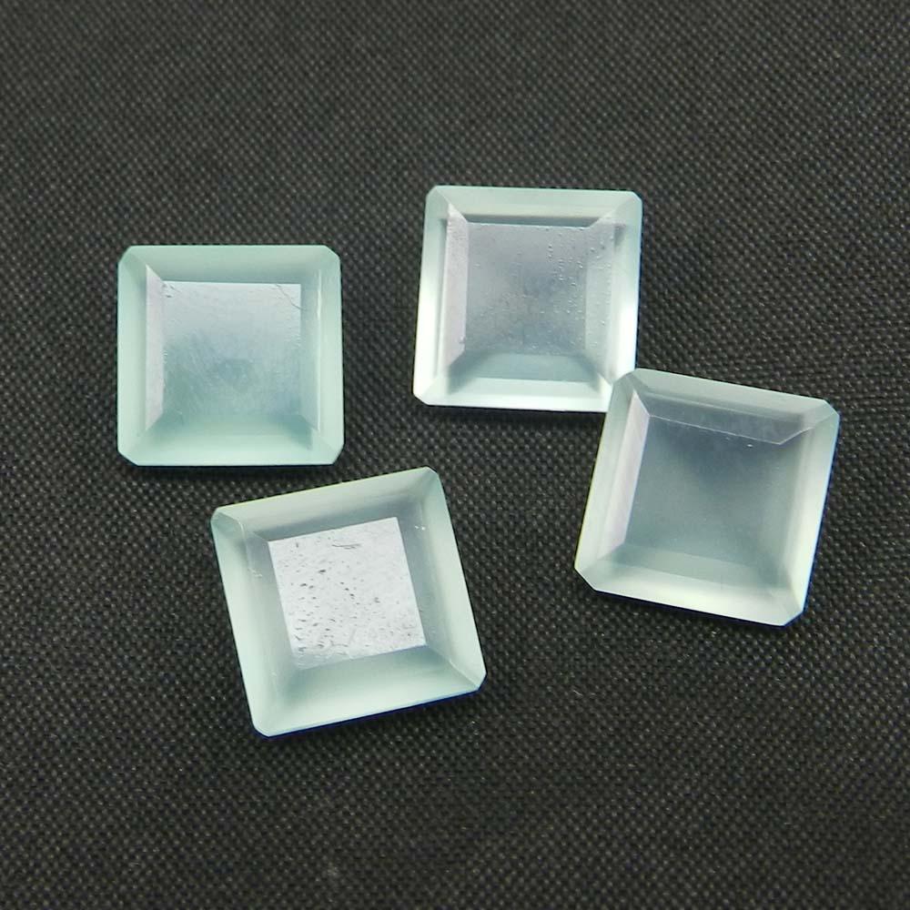Aqua Chalcedony 10x10mm Square Cut 3.5 Cts