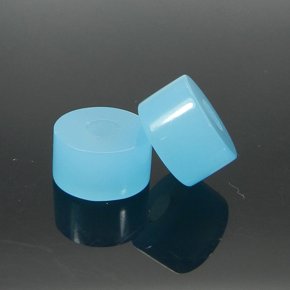 Aqua Chalcedony 14x8x5mm Round Flat Beads