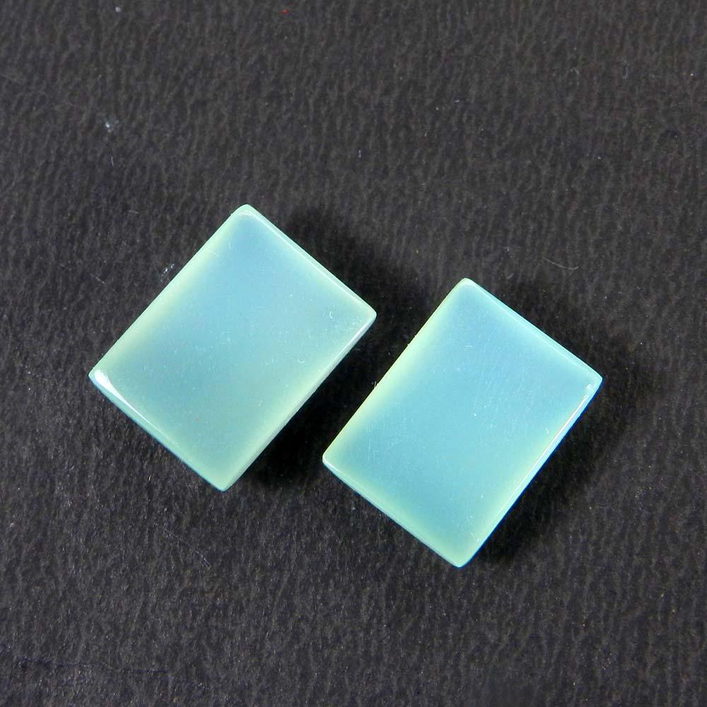 Aqua Chalcedony 16x12mm Rectangle Cabochon 12.85 Cts