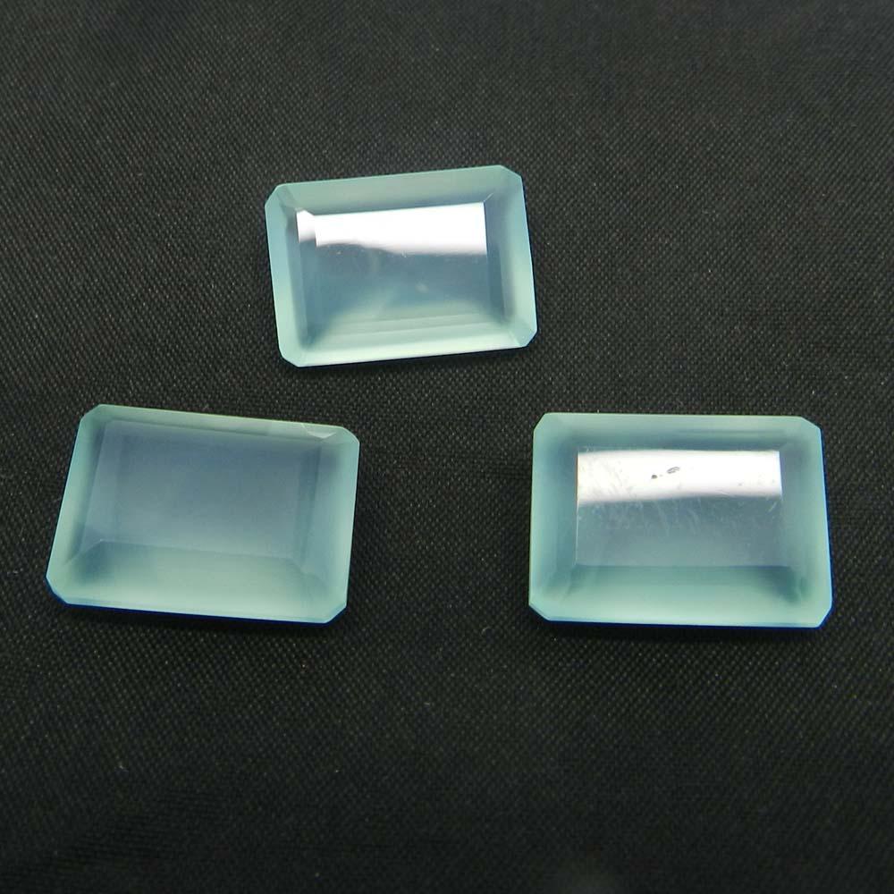 Aqua Chalcedony 18x13mm Rectangle Cut 12.5 Cts
