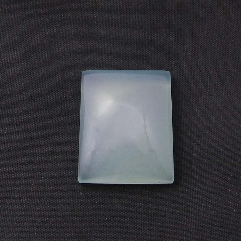 Aqua Chalcedony 20x15mm Octagon Cabochon 16.35 Cts