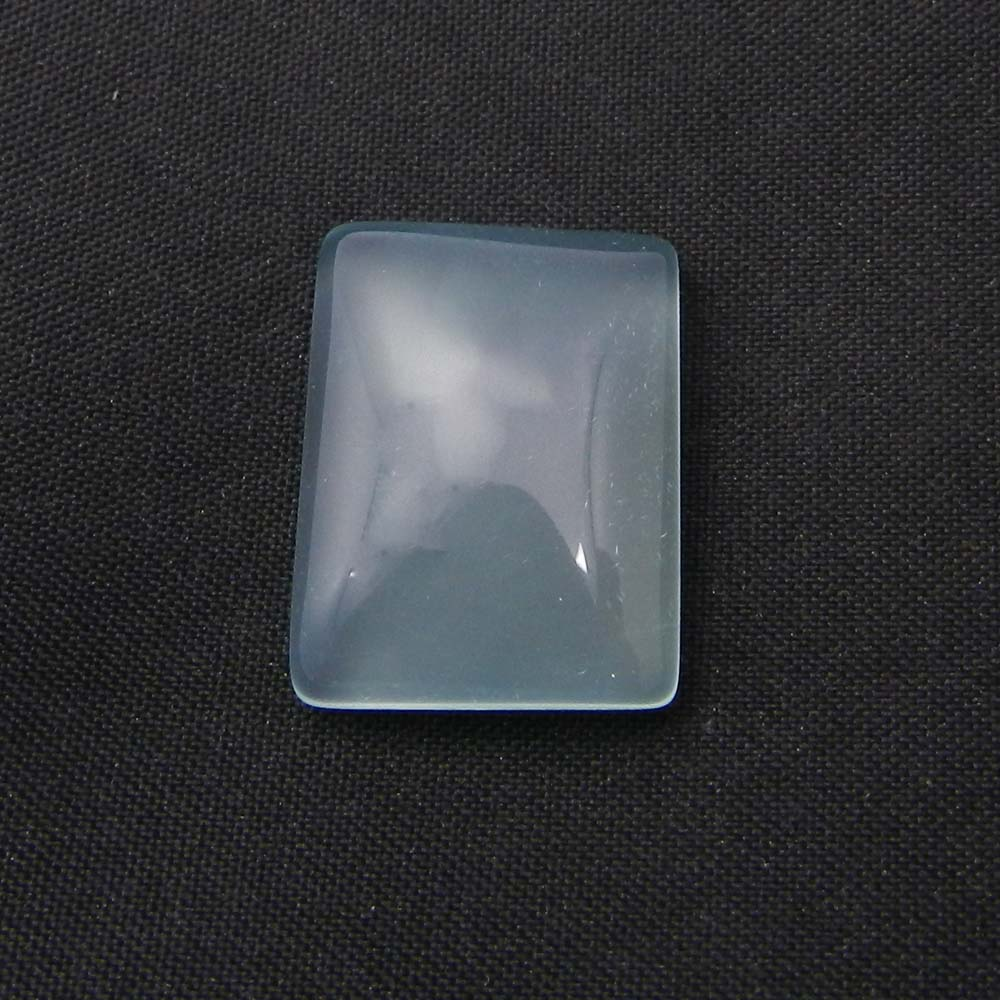 Aqua Chalcedony 25x20mm Rectangle Cabochon 35.0 Cts