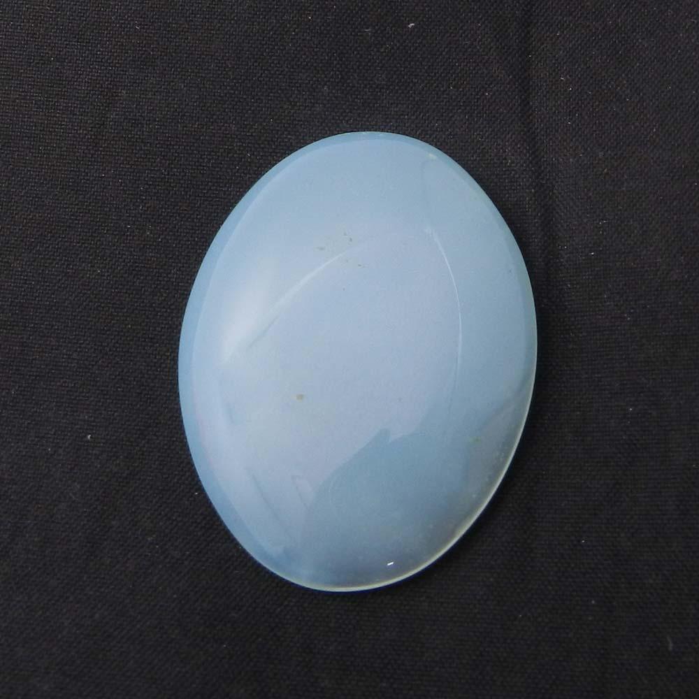 Aqua Chalcedony 40x29mm Oval Cabochon 58.30 Cts