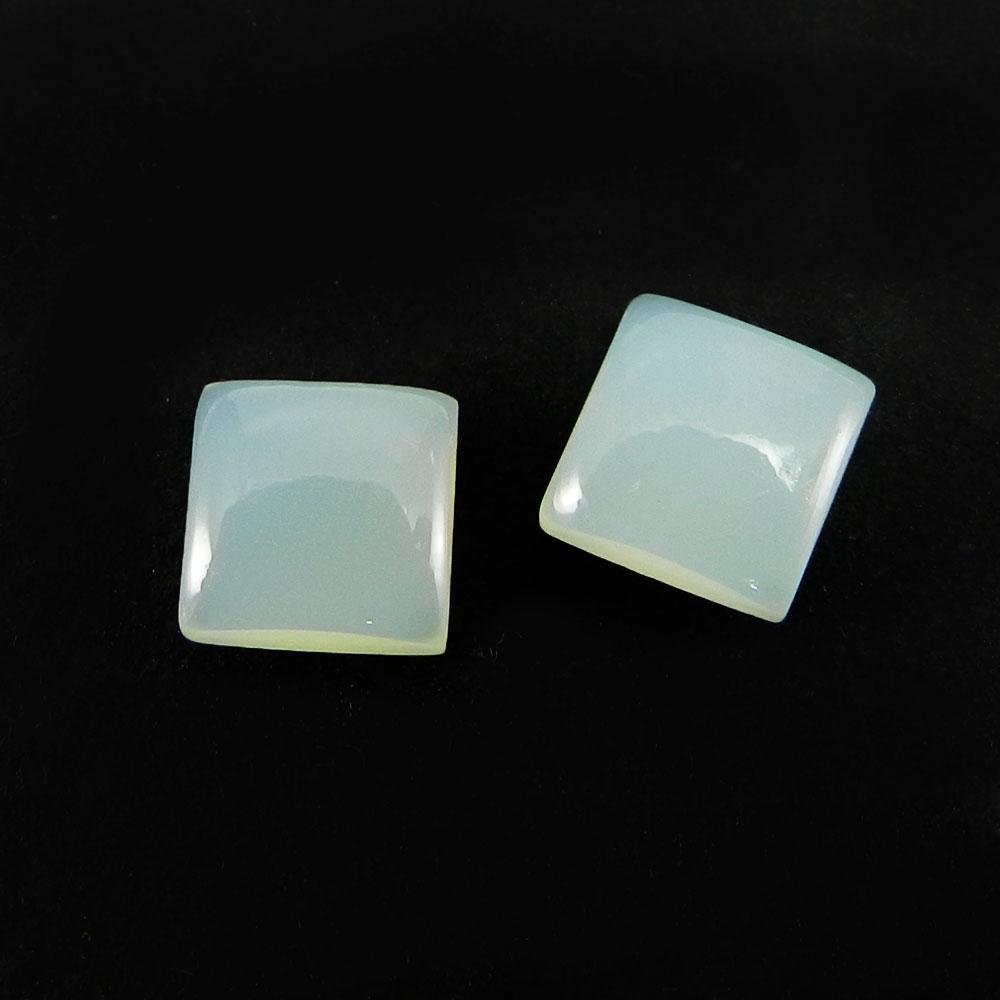 Aqua Chalcedony 6x6mm Square Cabochon 1.6 Cts