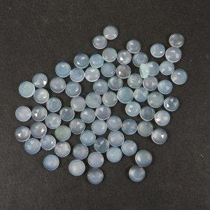Aqua Chalcedony 7mm Round Rose Cut 1.13 Cts