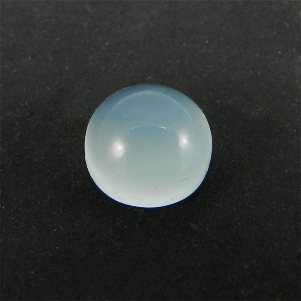 Aqua Chalcedony 8mm Round Cabochon 2.4 Cts