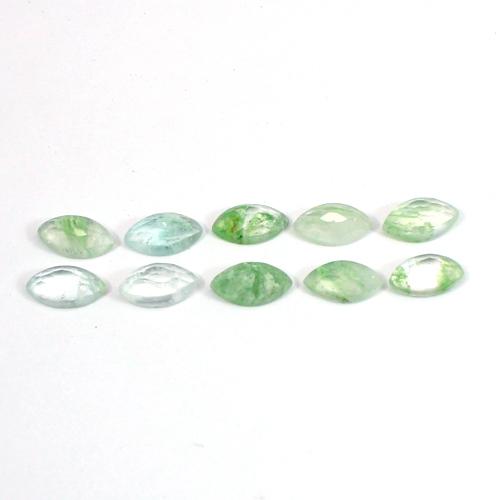 Aqua Crackle Glass 10x5mm Marquise Rose Cut 1.03 Cts