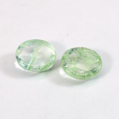 Aqua Crackle Glass 12x10mm Oval Rose Cut 4.70 Cts