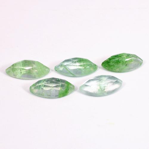 Aqua Crackle Glass 15x7mm Marquise Rose Cut 2.98 Cts