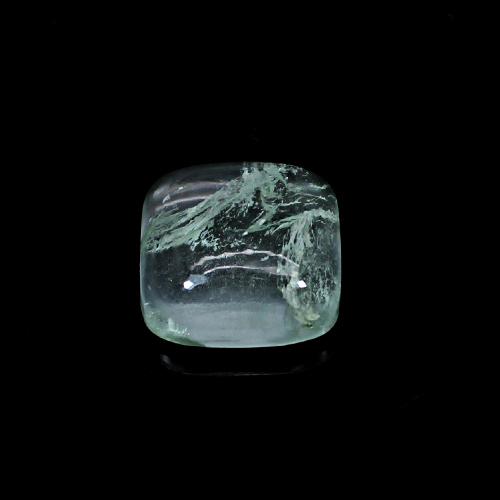 Aqua Crackle Glass 17.20 Cts Square Cabochon 16mm Loose Gemstone