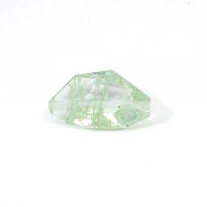 Aqua Crackle Glass 17.60 Cts Fancy Checker Cut 27x15mm Drillied Loose Gemstone