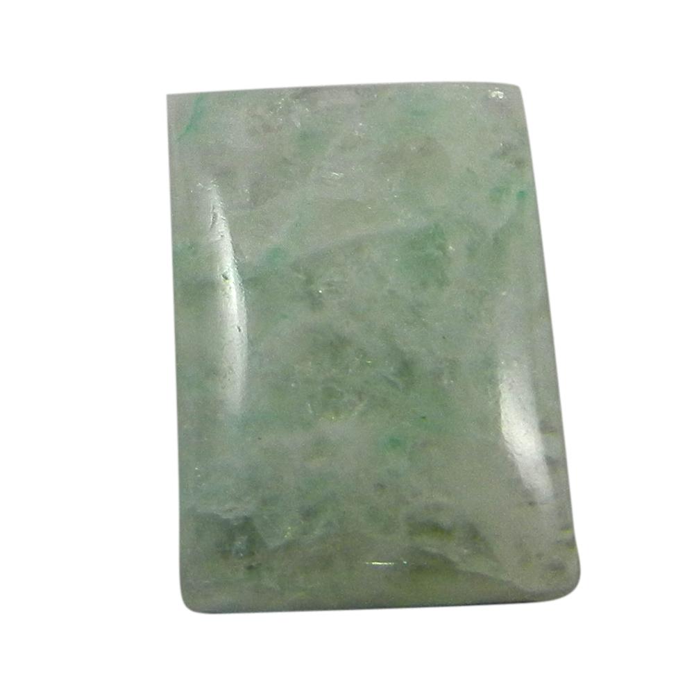 Aqua Crackle Glass 17x13mm Rectangle Cabochon 10.75 Cts