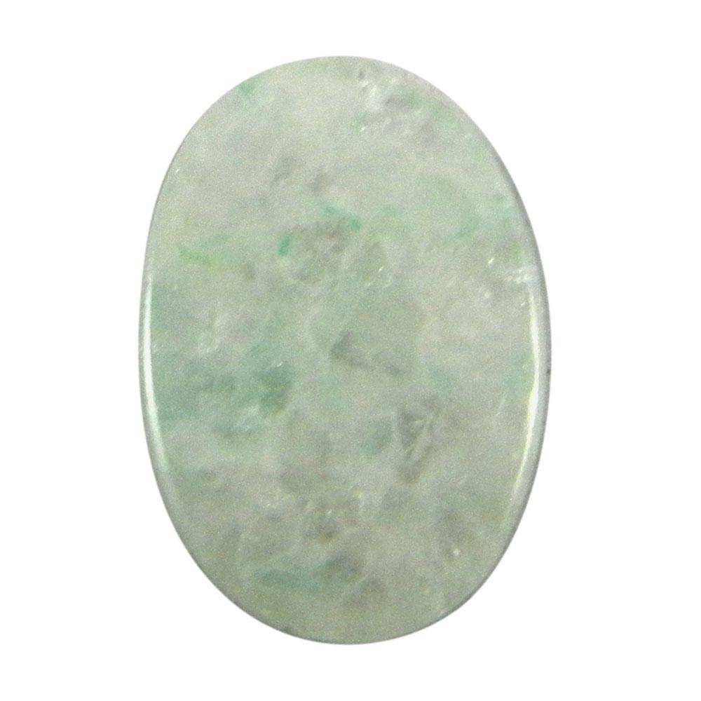 Aqua Crackle Glass 22x15mm Oval Cabochon 14.05 Cts