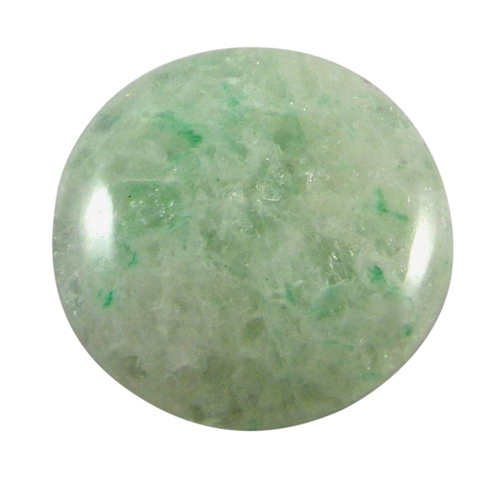 Aqua Crackle Glass 32mm Round Cabochon 57.5 Cts