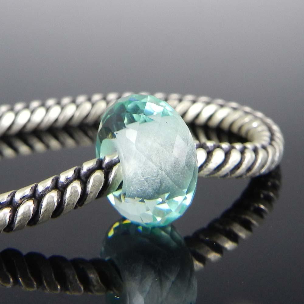 Aquamarine Hydro 14x8x4.5mm Roundel Facet  Beads
