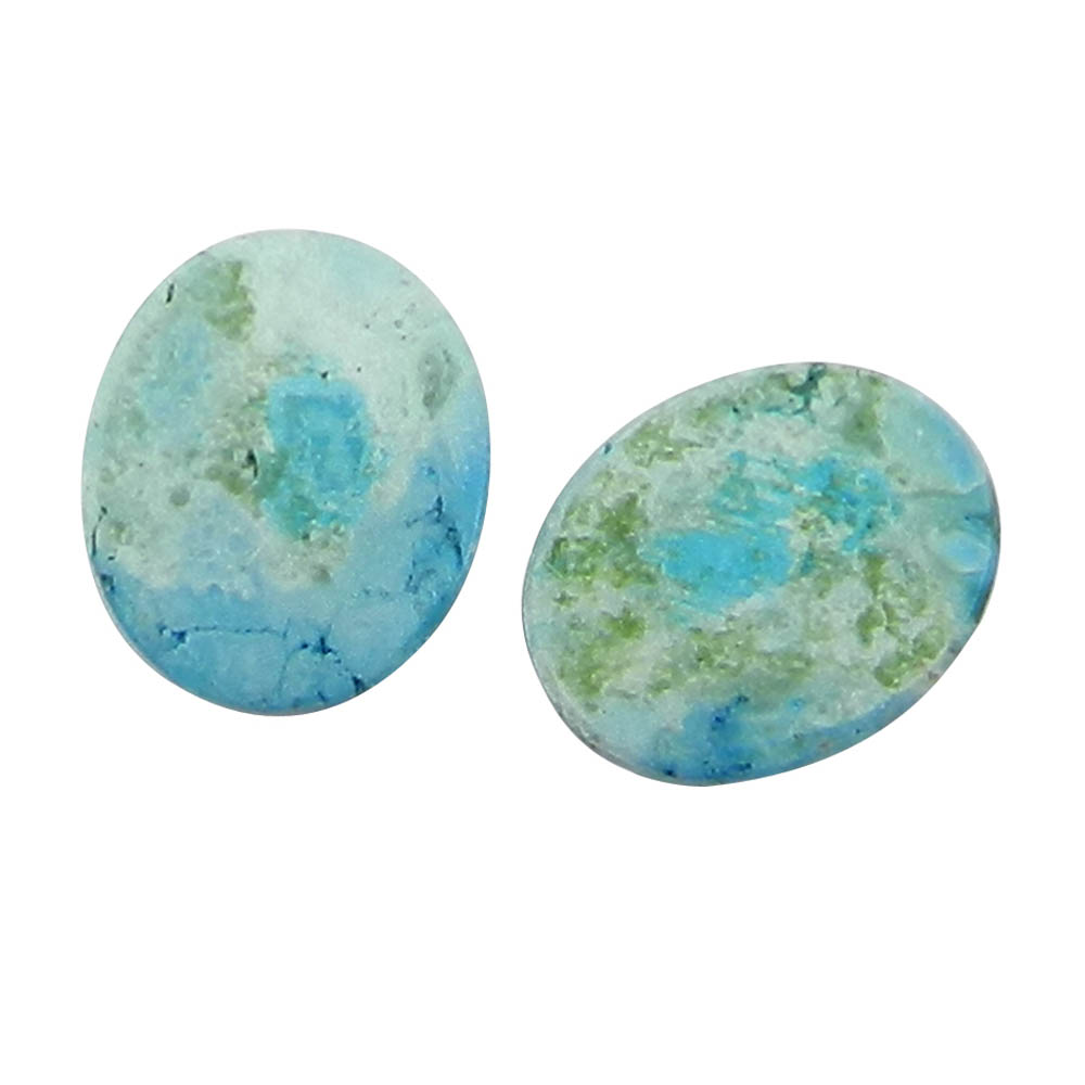 Arizona Turquoise 10x8mm Oval Pair Cabochon 2.1 Cts