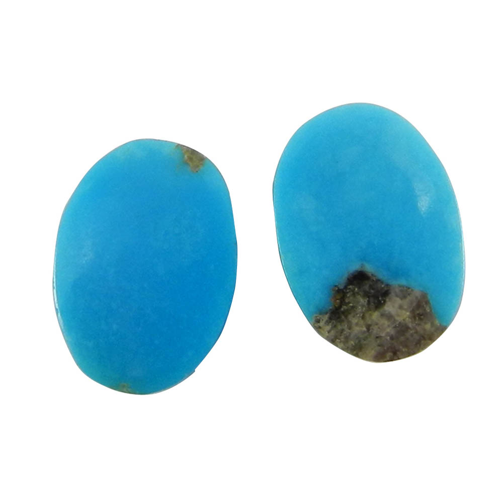Arizona Turquoise 14x10mm Oval Pair Cabochon 9.6 Cts