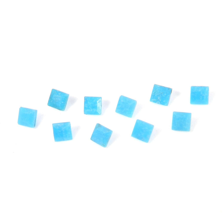 Arizona Turquoise 3x3mm Square Cut 0.16 Cts