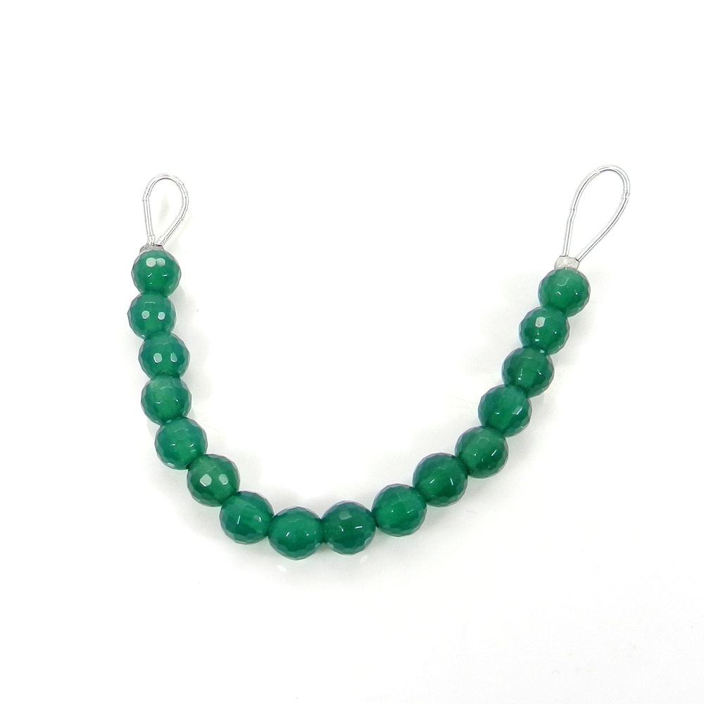 Beads Seller ! 16 Pcs Green Onyx Roundel Faceted Beads 6mm 3.11 inch 23.80 cts