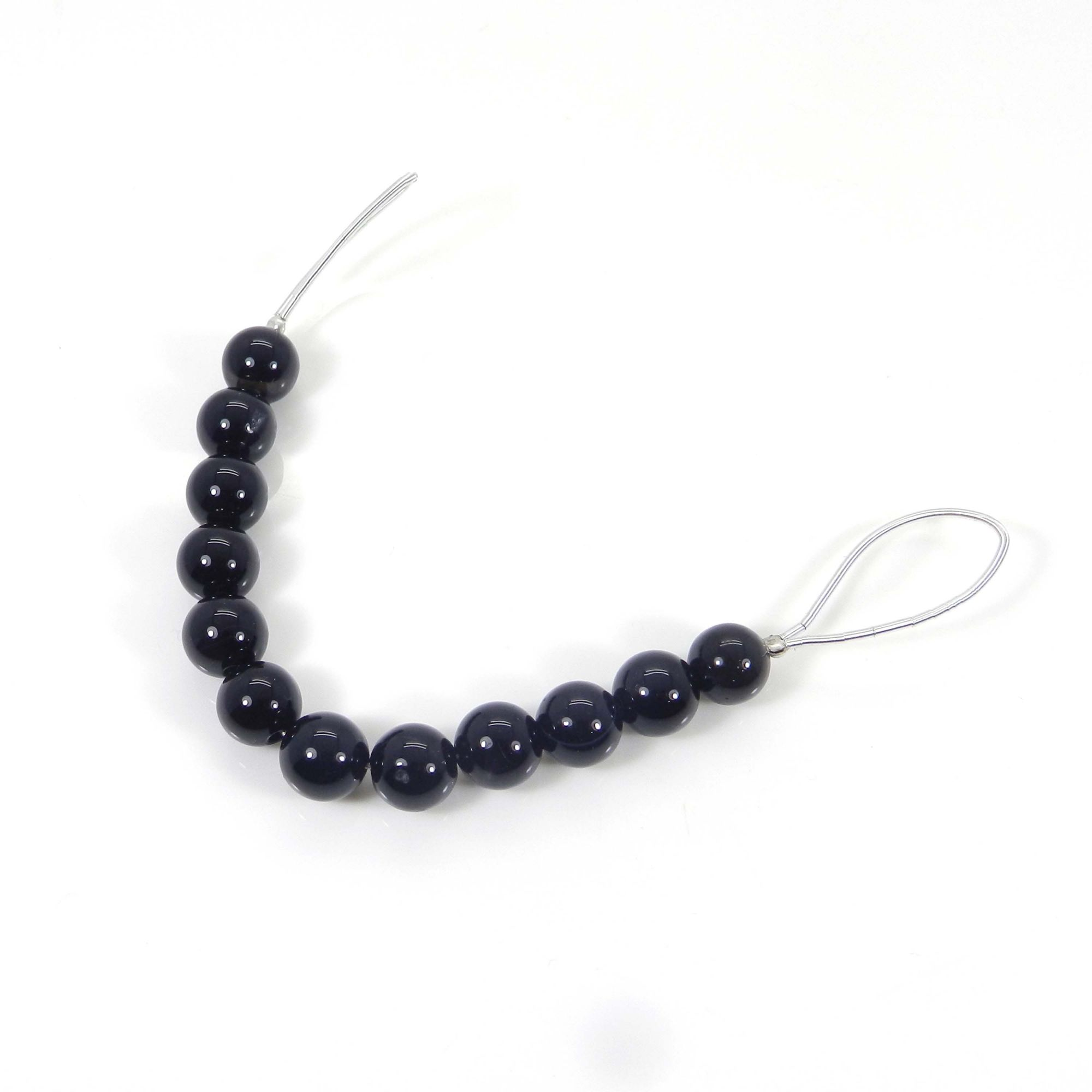 Beads Seller !! Black Onyx Roundel Smooth Plain Beads 8mm 3.14 Inch 46 Cts