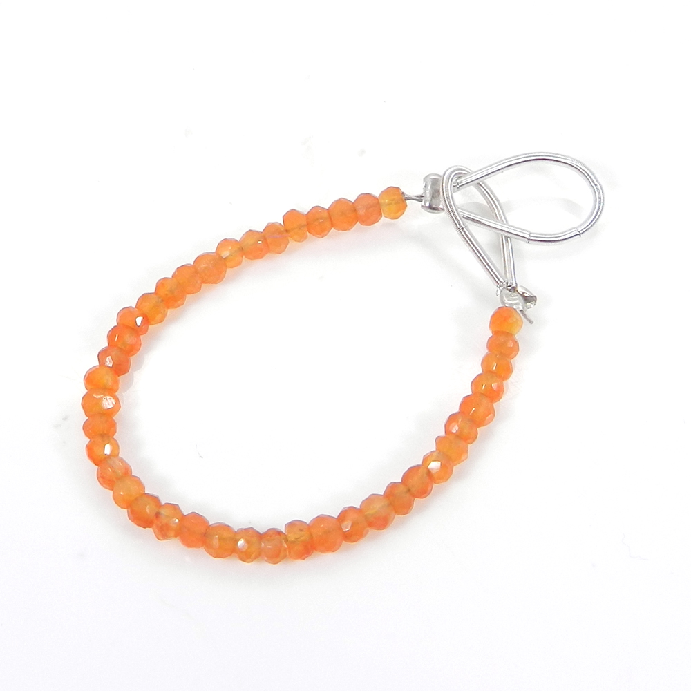 Beads Seller ! Carnelian Roundel Faceted Beads 2.5mm 3.2 inch 5.30 cts