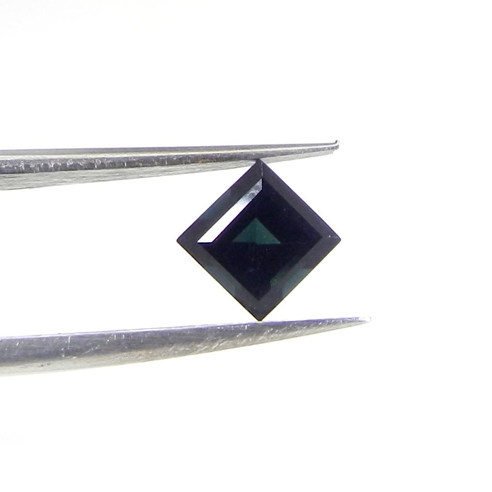Beautiful Blue Tourmaline Gemstone 5x5mm Square Cut 0.65 Cts
