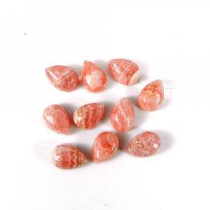Beautiful Rhodochrosite Gemstone 7x5mm Pear Cabochon 1.30 Cts
