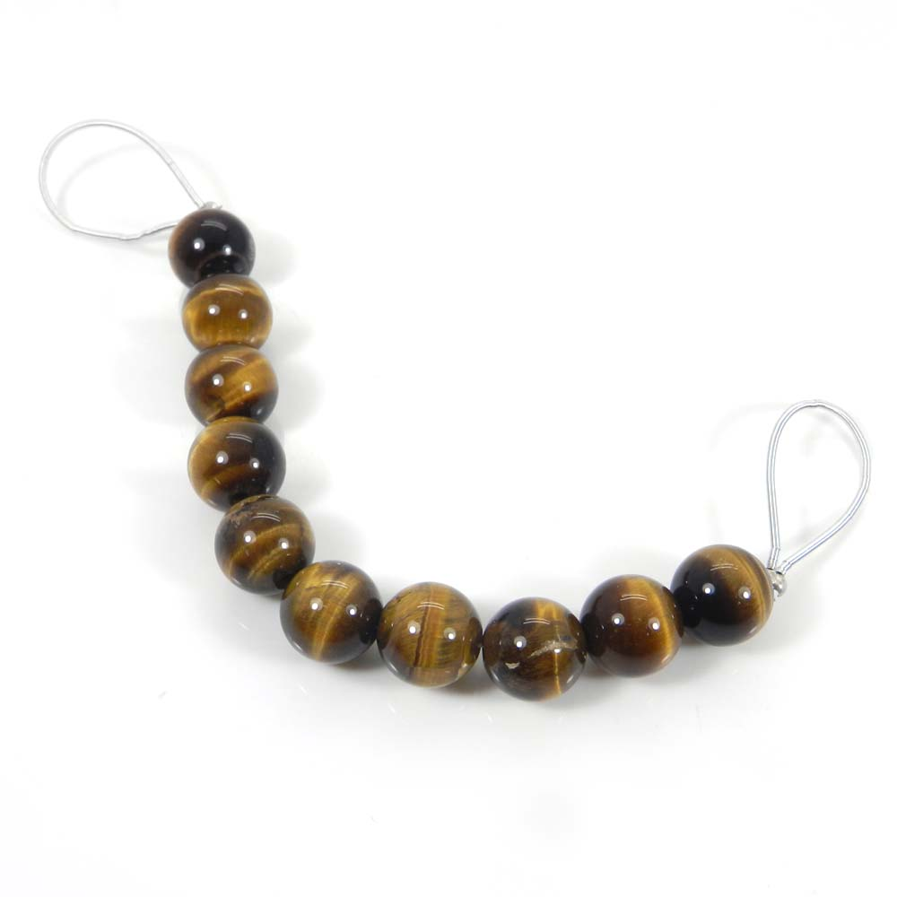 Best Deal !  10 Pcs Tiger Eye Roundel Smooth Plain Beads 10mm 4 Inch 75.45 Cts