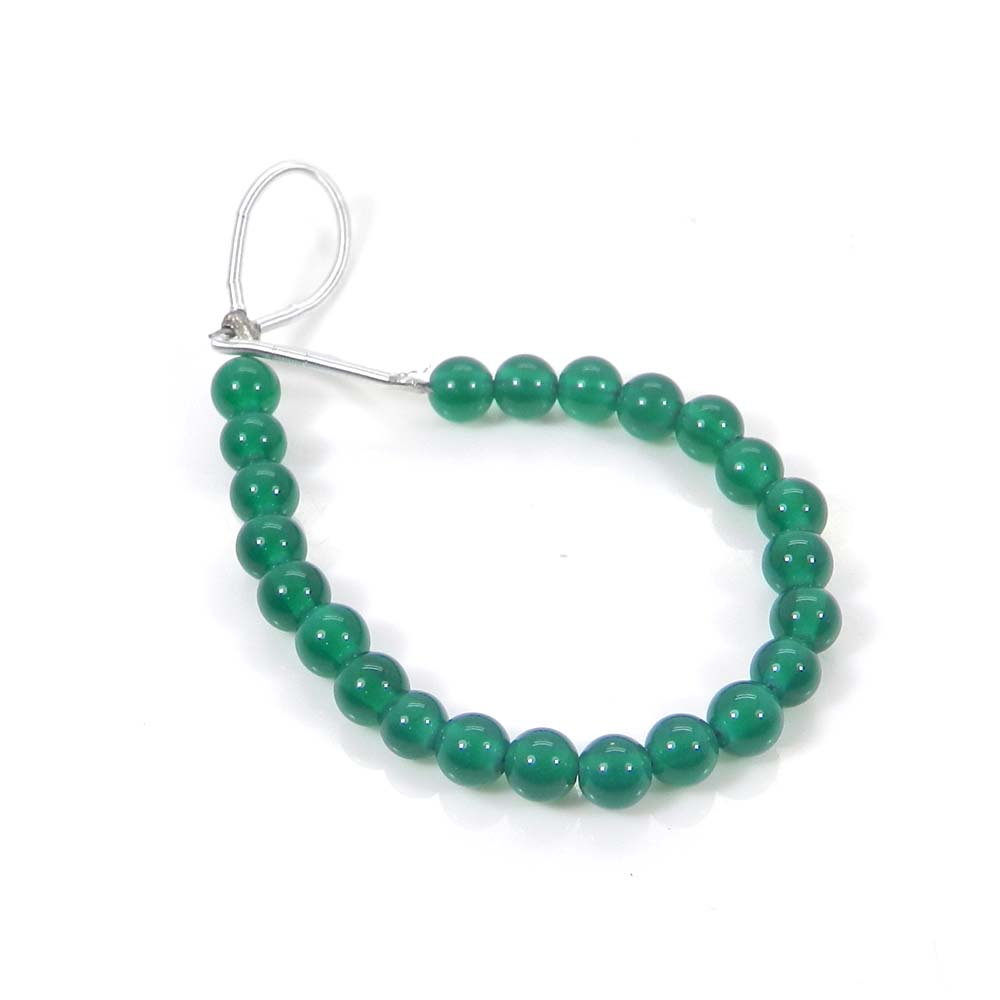 Best Deal !  Green Onyx Smooth Plain Beads 4mm 3.11 inch 12.50 Cts