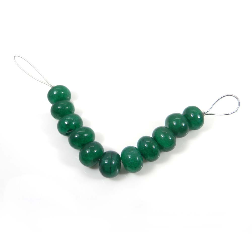 Best Deal ! 11 Pcs Green Agate Roundel Smooth Plain Beads 13mm 4.1 inch 129.05 cts