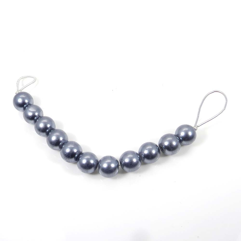 Best Deal ! 11 Pcs Grey Pearl Roundel Smooth Plain Beads 10mm 3.13 inch 40.75 Cts