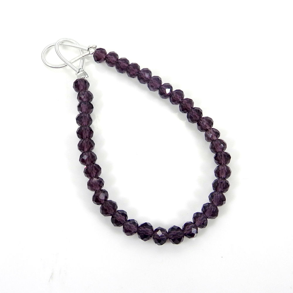Best Deal ! 21 Pcs Pink Amethyst Roundel Faceted Beads 6mm 3.11 inch 21.20 cts