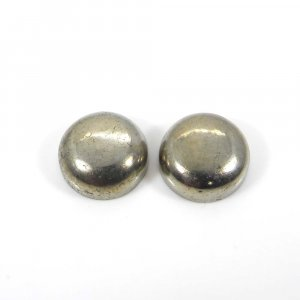 Best Offer ! 1 Pair Silver Pyrite 14mm Round Cabochon 39.40 Cts