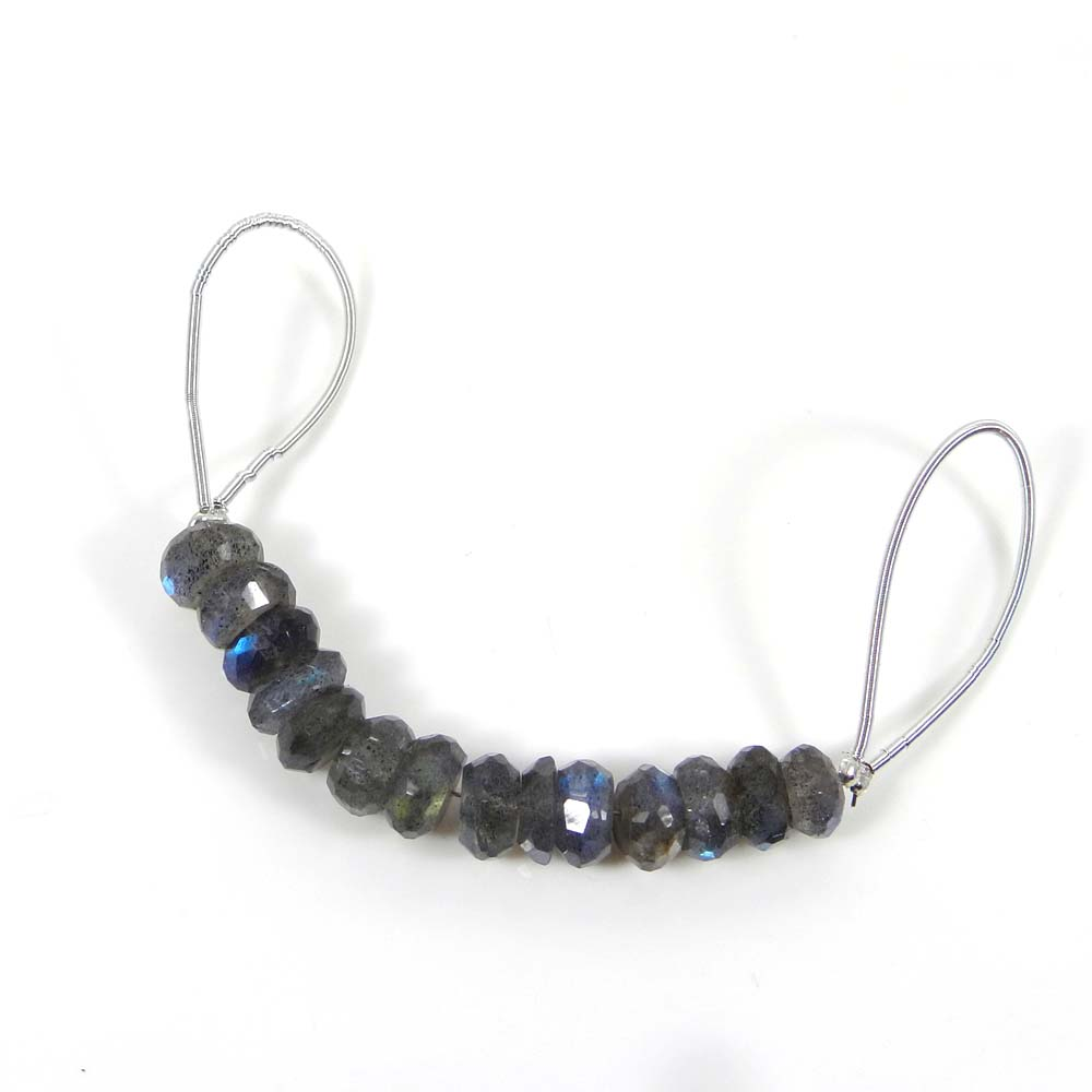 Best Offer ! Labradorite Roundel Faceted Beads 7mm 2 Inch 24 Cts