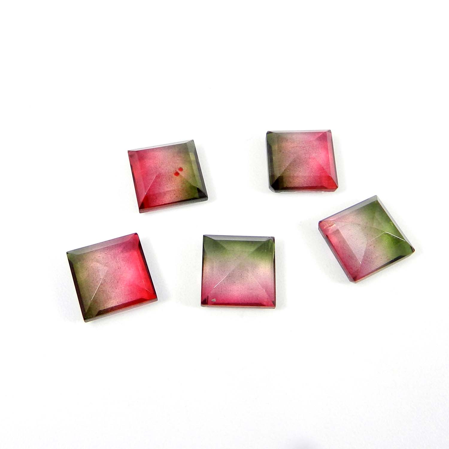 Bio Color & Crystal 10x10mm Square Cut 4.67 Cts