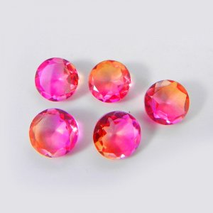 Bio Color Doublet 5mm Round Faceted Cut 0.72 Cts