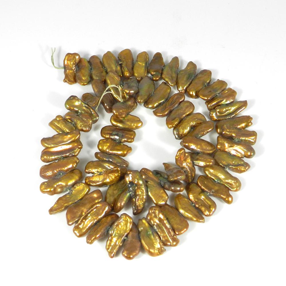 Biwa Pearl Smooth Plain Beads 16 Inch Length 207.55 Cts