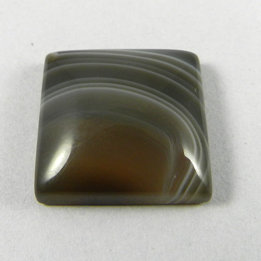 Black Banded Agate 16x16mm Square Cabochon 15.35 Cts