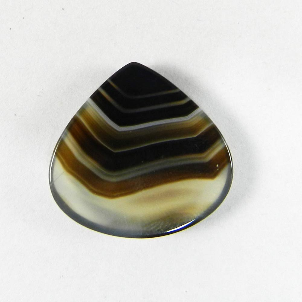 Black Banded Agate 23x23mm Heart Cabochon 20.25 Cts