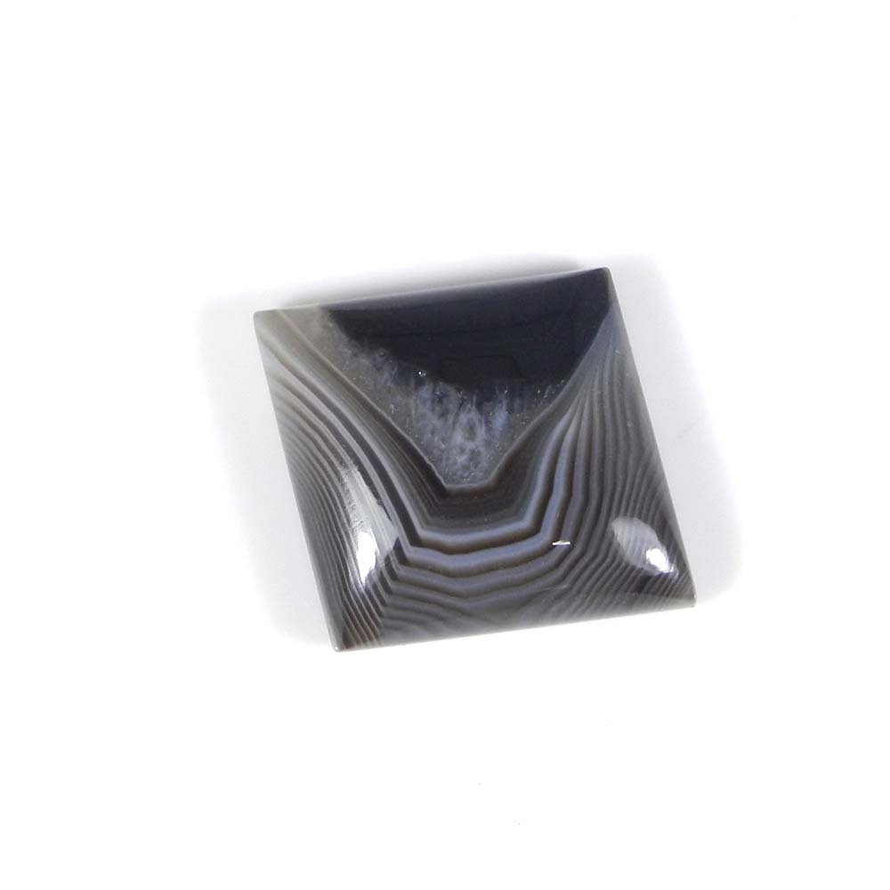 Black Banded Agate 24x22mm Fancy Cabochon 15.7 Cts