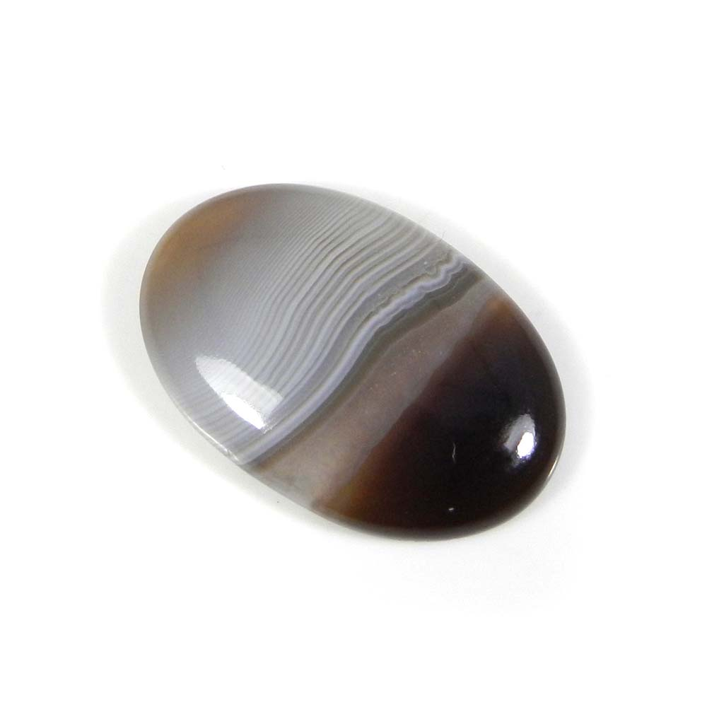 Black Banded Agate 27x18mm Oval Cabochon 20.1 Cts