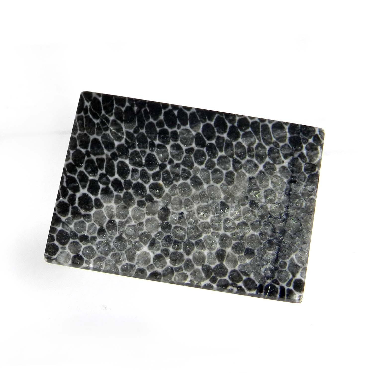Black Coral 27x20mm Rectangle Cabochon 23.80 Cts