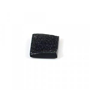 Black Druzy 5.75 Cts Square 12mm Loose Gemstone