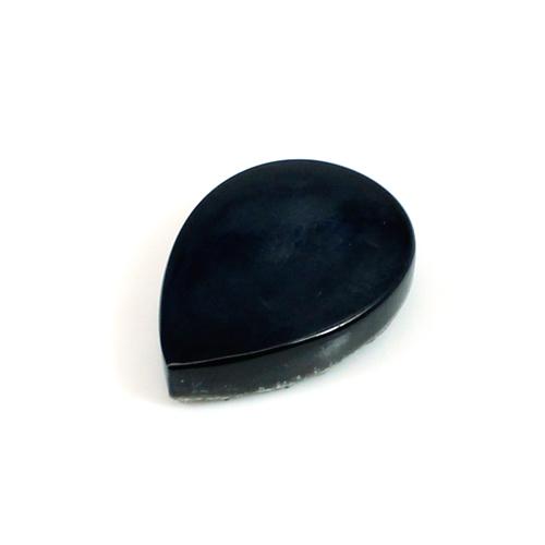 Black Druzy Pear 13x18mm 7.85 Cts