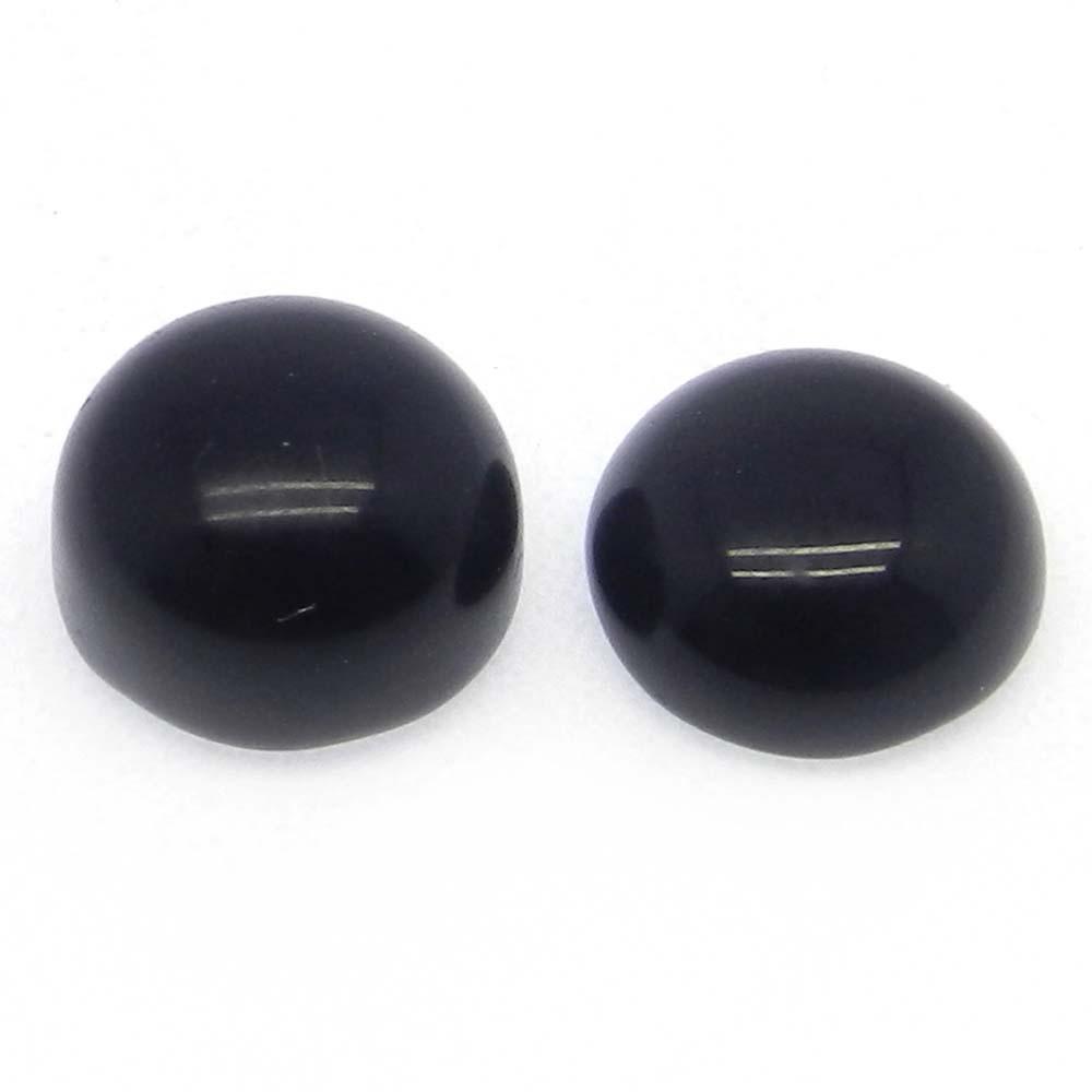 Black Onyx 10mm Round Cabochon 5.2 Cts