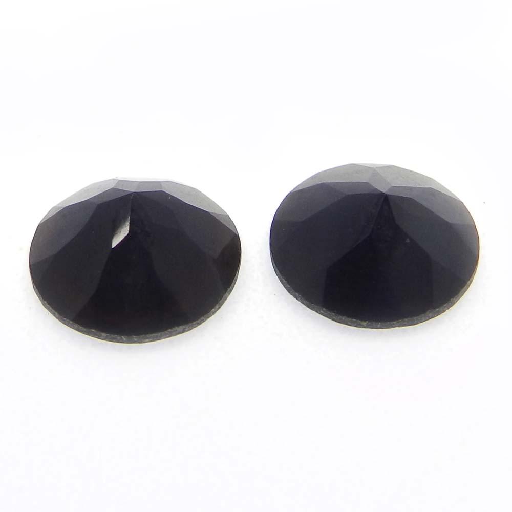 Black Onyx 10mm Round Cut 2.75 Cts