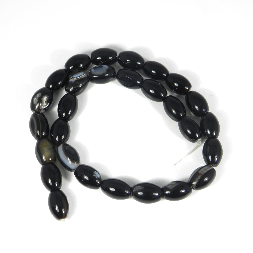 Black Onyx 10mm Smooth Plain Beads 15 Inch Length 274.10 Cts